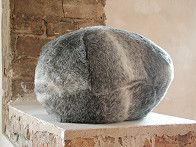 Irritating Fur Sculpture by Timo Kahlen  |  €ŽEINS€Œ (NO. 2)  object, 2005  an irritating fur sculpture from a series of softly vibrating sound sculptures  26 x 43 x 41 cm. Artificial fur, feathers, loudspeakers, sound, original Audio CD