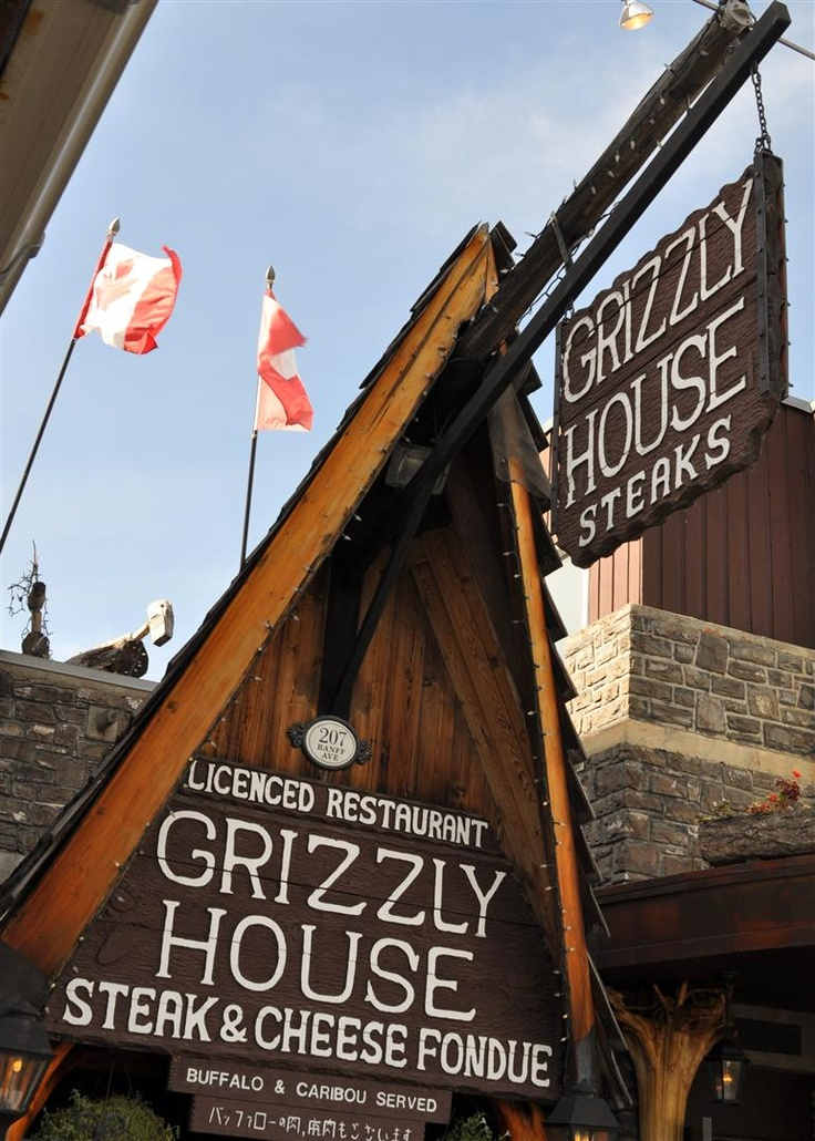 Grizzly House - eat here it is good Banff National Park | Canada Sept. 2012