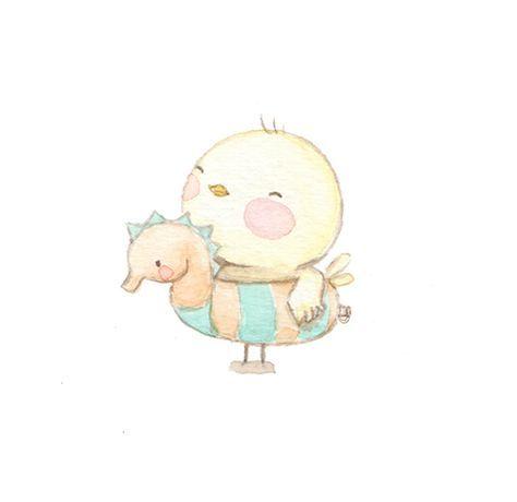 Ilustracion infantil pollito aida zamora