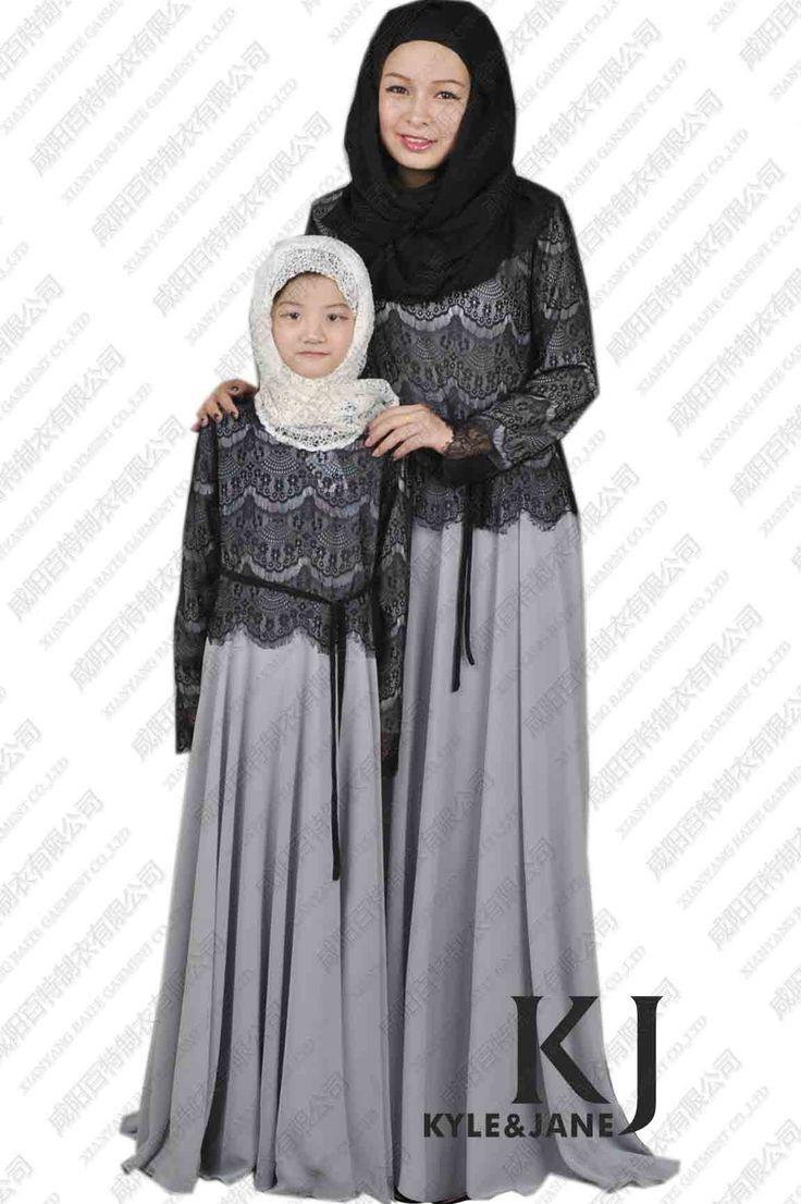 Long Dresses | ... New Parent-Child Abaya Long Dress Kids Maxi Dress Islamic Clothing