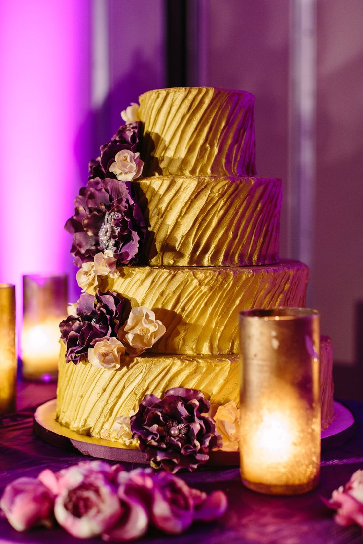 Purple n Gold cake