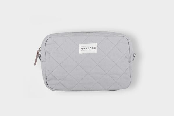 Grey Quilted Washbag