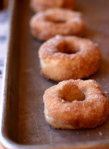 Baked Cinnamon Sugar Donuts: These are like the real deal, yeasty warm donuts, but they are baked! Way to keep it healthy while keeping the comfort.