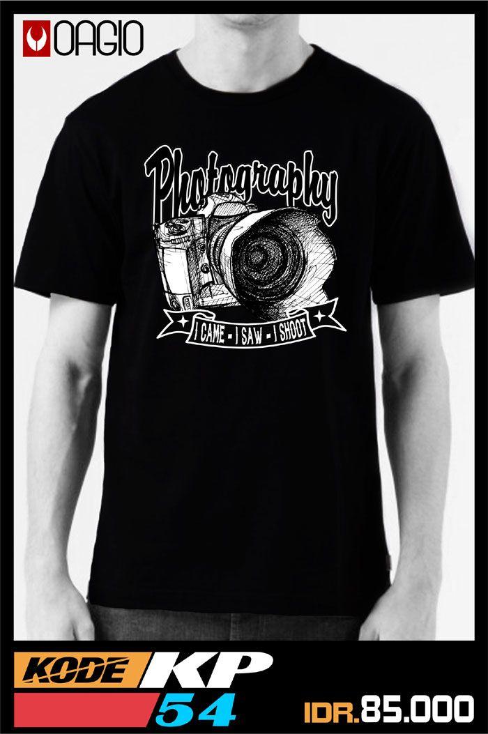 #kaosdistro Kaos distro Bandung harga murah berkualitas produk OAGIO kode KP54, bahan katun combed 30s warna hitam, ukuran M, L, XL, untuk fotografer Indonesia