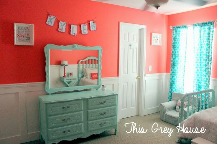 A Little Girl's Room: Coral and Aqua |