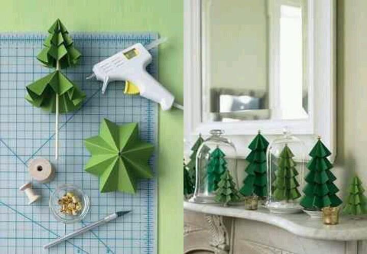 Paper tree decorations