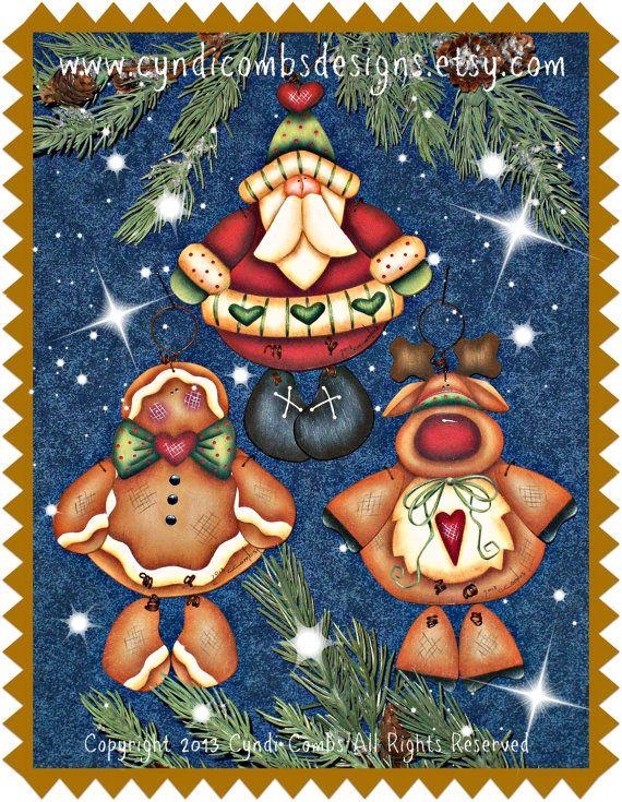 CC159 Jingle Friends Ornaments Painting por CyndiCombsDesigns