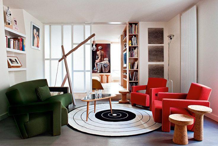 Un salon lumineux et accueillant - Un appartement parisien mis en boîte - Marie Claire Maison