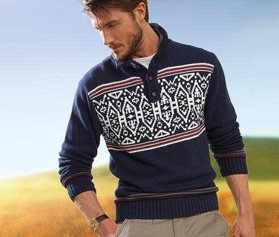 #Sweter z rozpinanym kołnierzem golfowym #tchibo