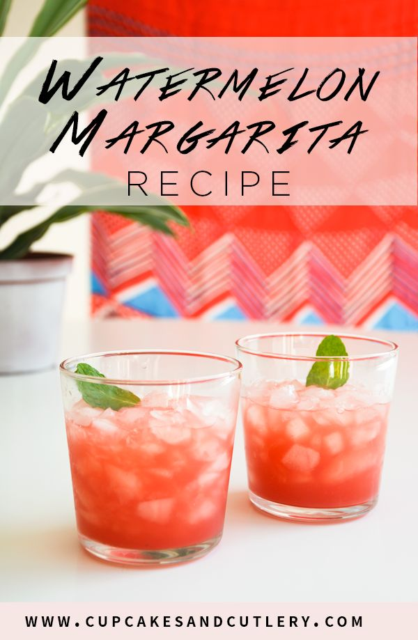 How to make this easy Watermelon Margarita recipe on the rocks!