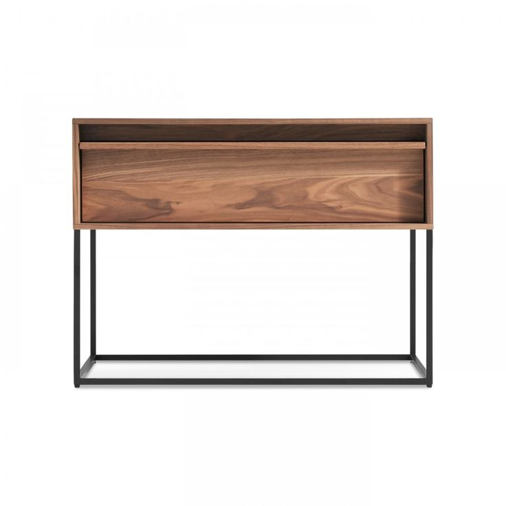 Modern Wood Nightstand - Walnut