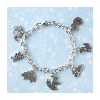 Sterling Silver Animal Charm Bracelet