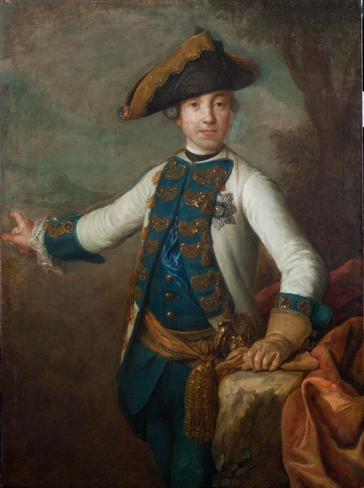 Портрет цесаревича Петра Федоровича. Около 1760 г. Пьетро Антонио деи Ротари (1707 или 1710 – 1762) (?). Холст, масло. 116,0 х 86,0.