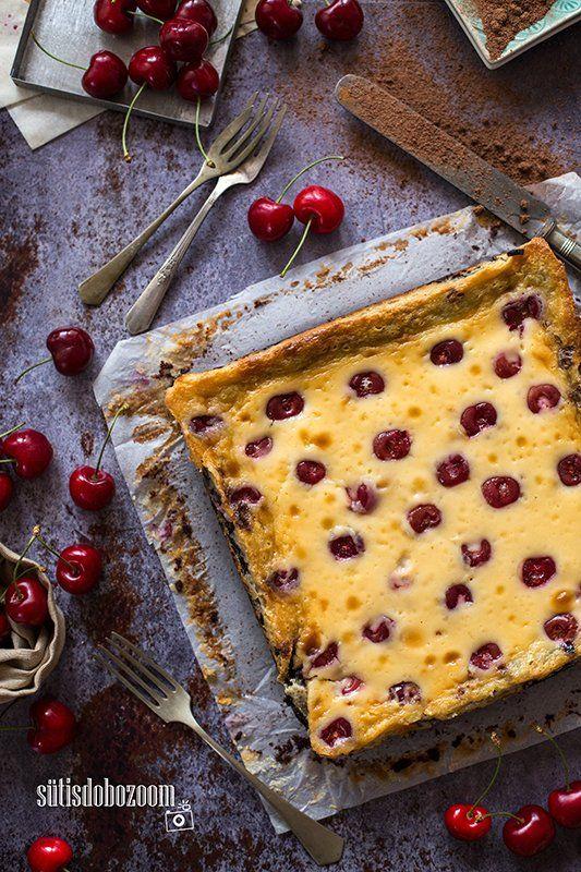 Tömény csokoládé, krémes mascarpone és cseresznye egy nagyon egyszerű édességben.