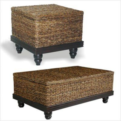 Bundle-59 Tropical Coffee Table Set (3 Pieces) by Jeffan. $960.84. [***INCLUDED IN THIS SET: (1)Tropical Coffee Table, (2)Tropical End Table] Features: -Frame material: Hardwood.-Handwoven.-With storage. Includes: -Set includes 1 coffee table and 1 end table. Color/Finish: -Main material: Twisted natural abacca fiber combined with solid mahogany accents. Dimensions: -Coffee table dimensions: 18'' H x 47'' W x 30'' D.-End table dimensions: 22'' H x 24'' W x 24'' D. ...
