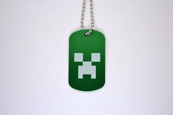 Minecraft creeper dog tag