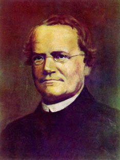 Gregor Johann Mendel; the man who worked with the pea  plants and gave us our gene theory and study of genetics.Geeky looking for sure but had all in the upstairs.