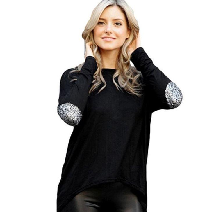 Dámské tričko s dlouhými zdobenými rukávy černé – Velikost L Na tento produkt se vztahuje nejen zajímavá sleva, ale také poštovné zdarma! Využij této výhodné nabídky a ušetři na poštovném, stejně jako to udělalo již …