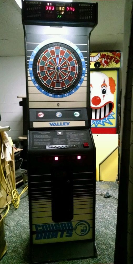 Valley Dart Board Arcade Machine With New Darts 2