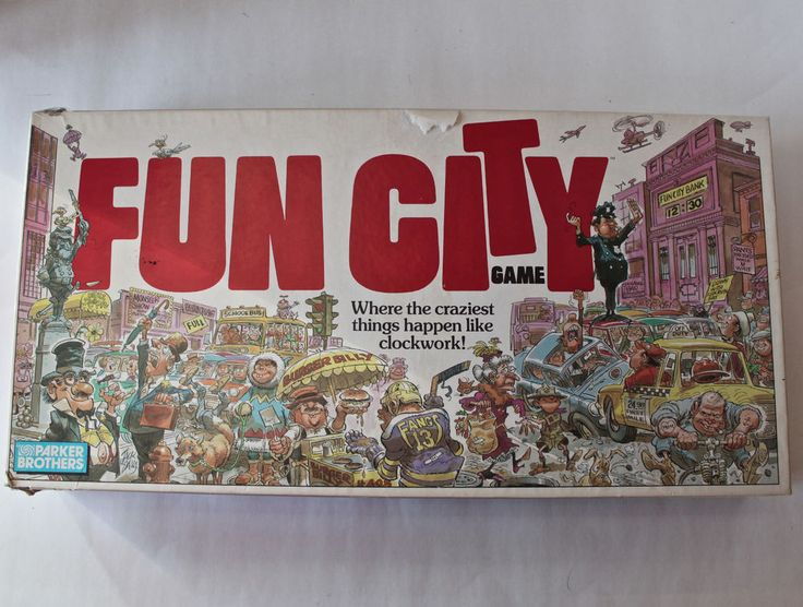 1987 Fun City Where Craziest Things Happen Parker Brothers Board Game Complete #ParkerBrothers