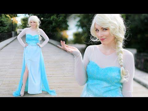 ▶ DIY ELSA FROZEN COSTUME - ADULT & CHILD - YouTube