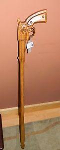 Unique Walking Canes Hand Carved | Details about Six Shooter Gun Hand Carved Cane Walking Stick PINE