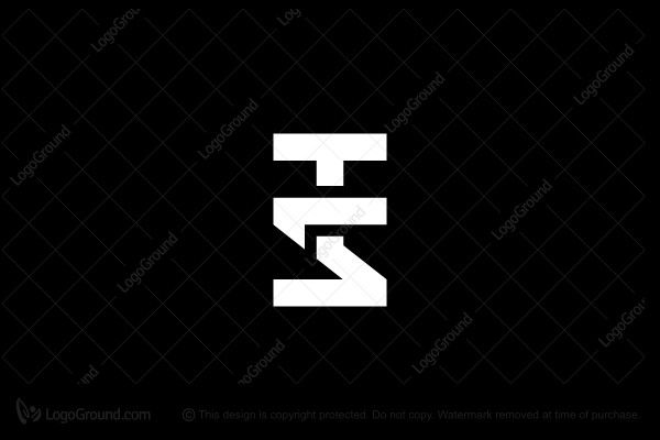 Letters T And S Logo Logos Letter T Typographic Logo