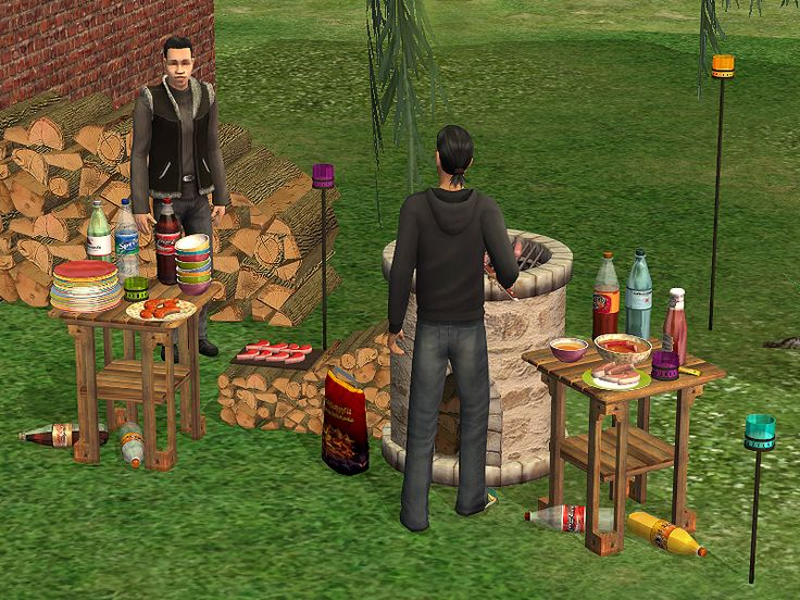 Grillparty Sims 2 Rooms Outdoors Pinterest Sims