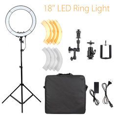 #Banggood 18 inch 5500K Dimmable LED Adjustable Ring Light Lamp With Diffuser Tripod Stand (1158259) #SuperDeals
