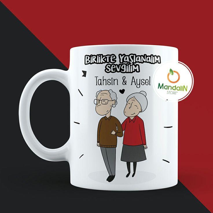 Sevgiliye Hediye Birlikte Yaşlanalım Kupa Bardak