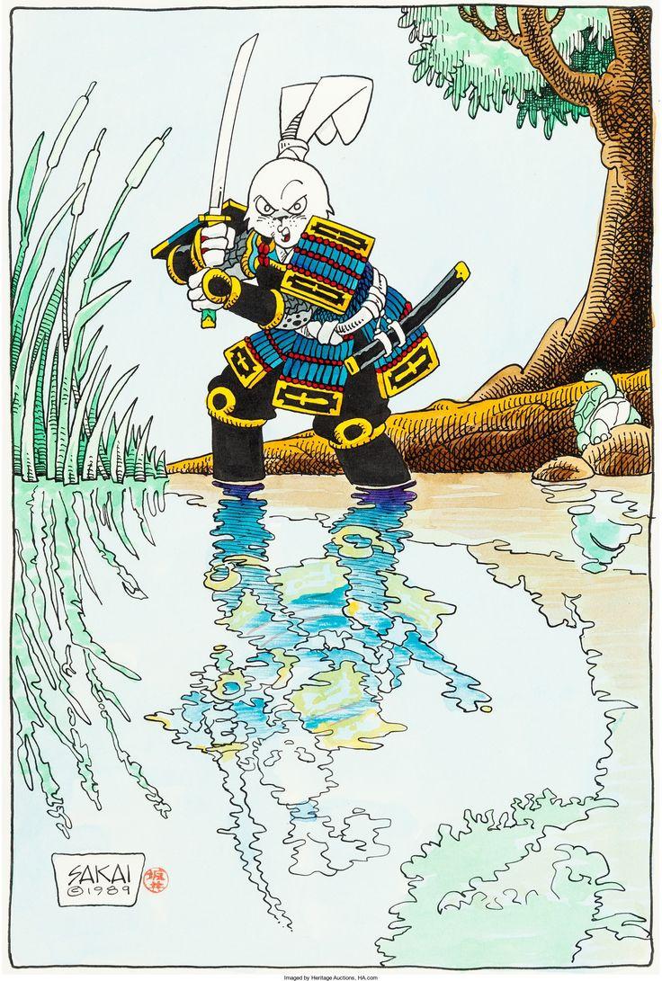 Stan Sakai - Usagi Yojimbo Illustration Original Art (1989) - W.B.