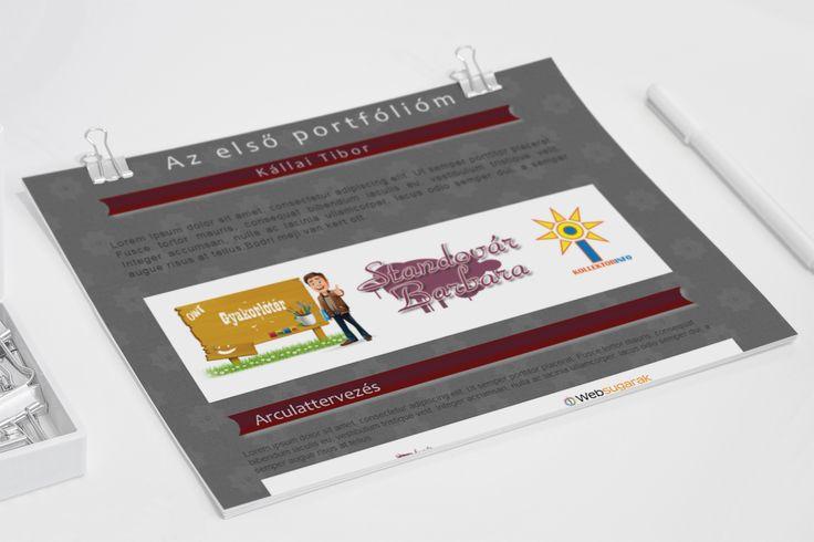 Portfólió weboldal tervezés.(PS)