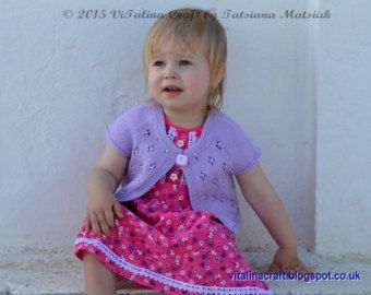 Knitting Pattern  Coralline Flower Tunic Baby and por ViTalinaCraft
