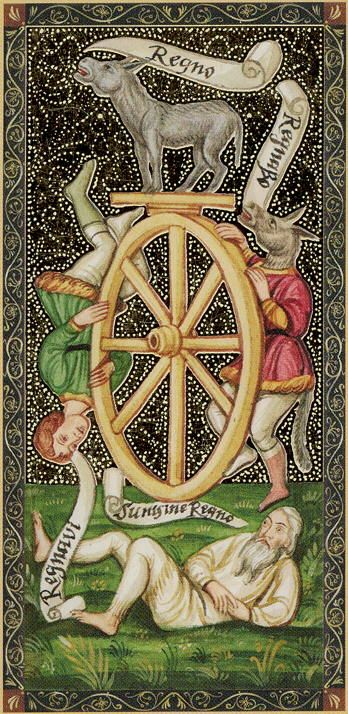 The Wheel - Golden Tarot Of The Renaissance