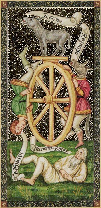 The Wheel - Golden Tarot of the Renaissance