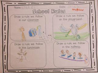School Rules - First Week of School Activities