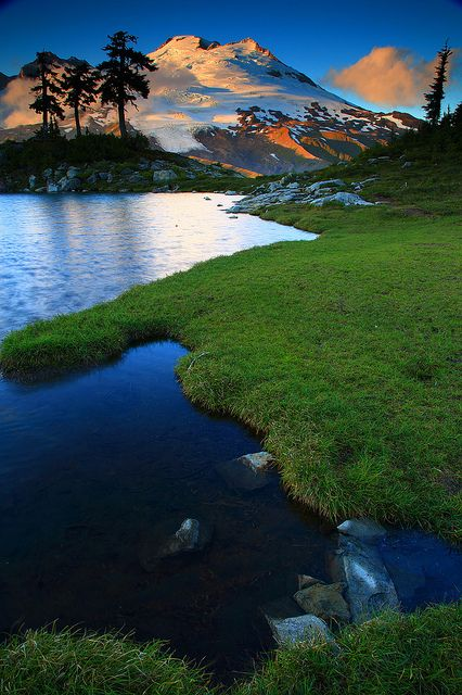 Sunset Reflected in a Tarn From Park Butte in The Mt Baker National Recreation Area Washington by Randall J Hodges Photography, via Flickr