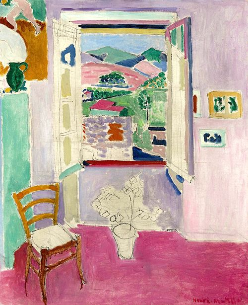 984 best paintings with a view through a window or door for Fenetre ouverte
