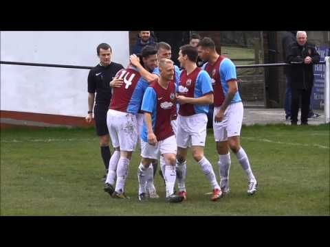Warren Byrne scores superb volley against Tow Law Town for South Shields