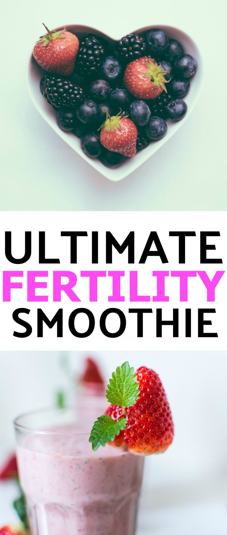 Boost your chances of conceiving with this nutrient dense fertility smoothie! Packed with fertility superfoods, this smoothie will help you get pregnant.