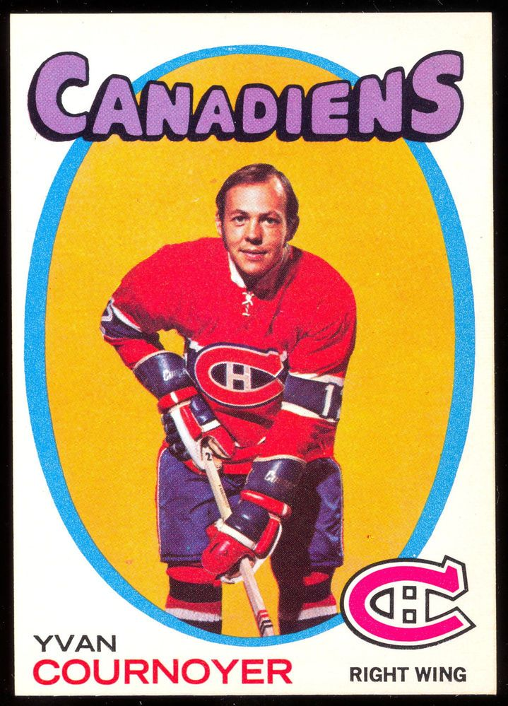 1971 72 Topps15 YVAN COURNOYER NM MONTREAL CANADIENS HOCKEY CARD #MontrealCanadiens
