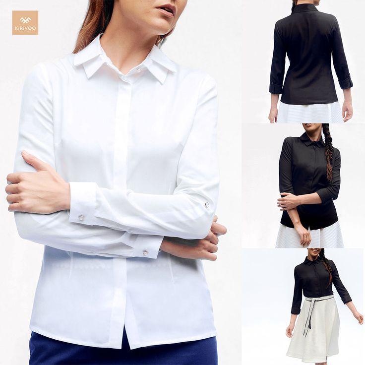 White shirts, black shirts, double collar shirts, bamboo shirts, formal shirts, adjustable sleeves shirts. KiRiVOO Oder shirts.