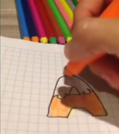 paso 3 para dibujar letras en llamas