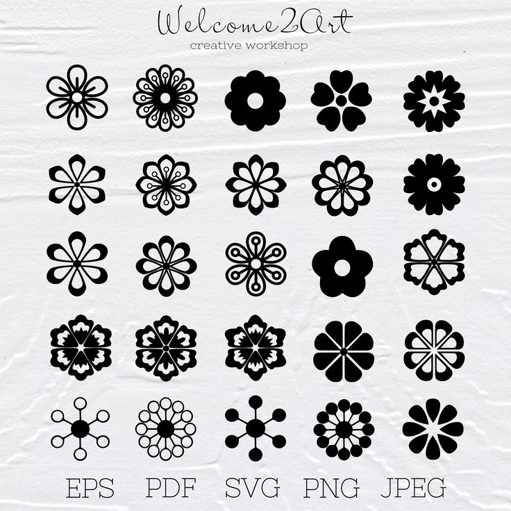Flowers for cricut Flowers for silhouette svg files for