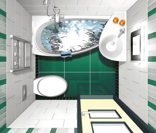 DIMENSIONES MINIMAS PARA UN BAÑO - PLANO PARA EL CUARTO DE BAÑO : BAÑOS: Fotos de baños - Videos de decoración de baños