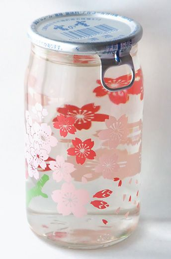 The sake cup is limited design, as long as sakura blooming! (I'm not sure what I like better, the design or the fact that in Japan, they sell sake in disposable, designer cans.)