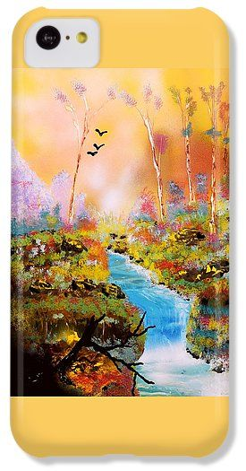 Land Of Oz IPhone 5c Case Printed with Fine Art spray painting image Land Of Oz by Nandor Molnar (When you visit the Shop, change the orientation, background color and image size as you wish)