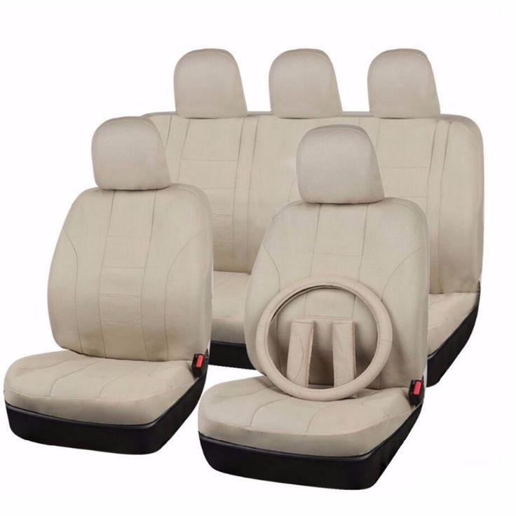 FlyingBanner Volledige Set Universele Autostoel Cover 6 Kleuren Auto Cover Seat & Stuurwiel Covers & Veiligheidsgordel Auto accessoires