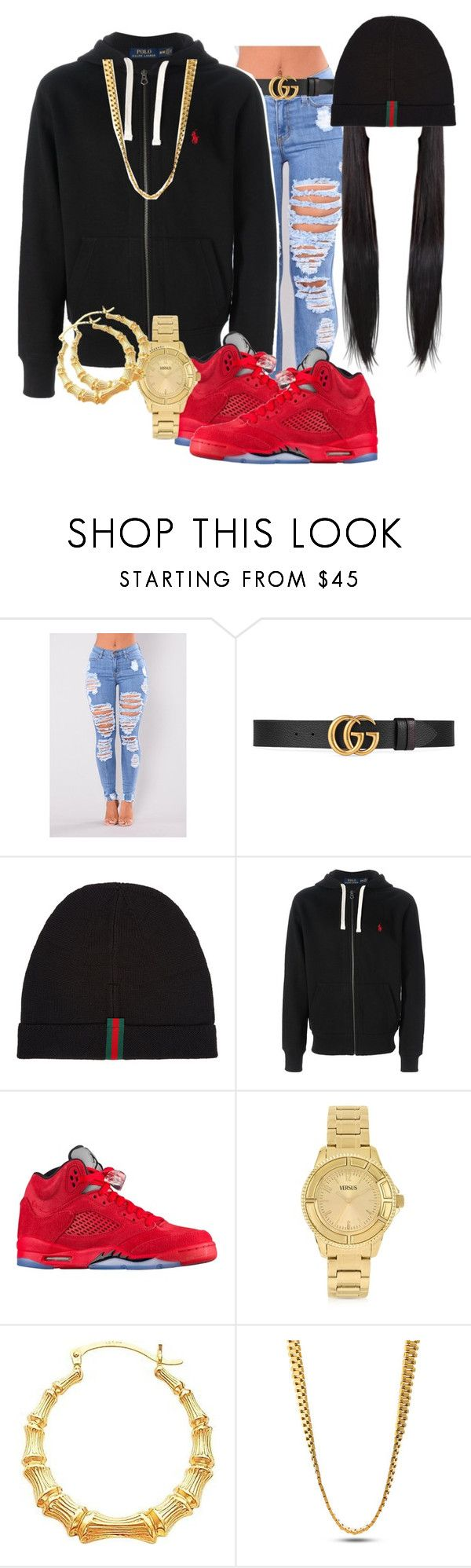 """"" by kashharmonii ❤ liked on Polyvore featuring Gucci, Polo Ralph Lauren, Versus and King Ice"