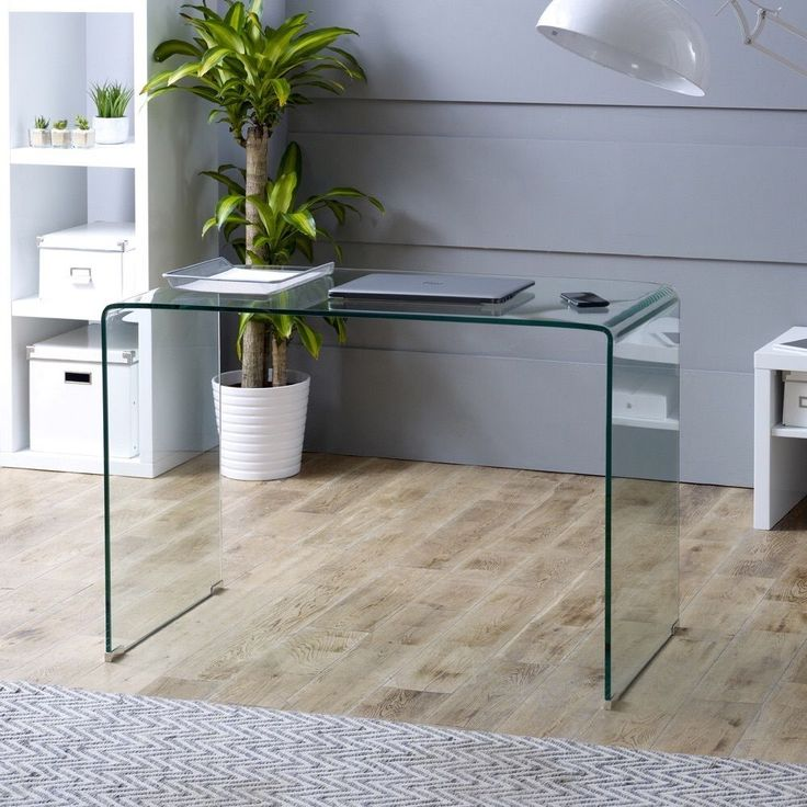Furniture Market Geo-Glass Small Glass Desk - GRAB THIS MAYDAY BARGAIN B4 it Go!